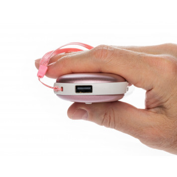 Электрическая грелка согревающая руки, розовое золото-2